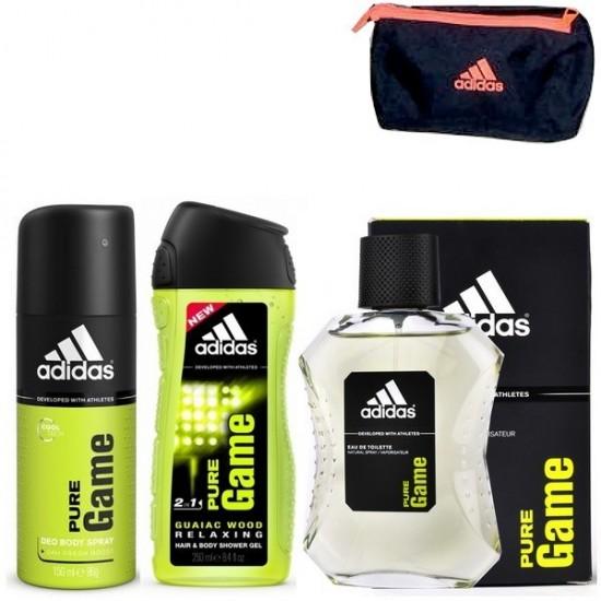 Adidas coffret homme coffret homme adidas get ready for him eau de toilette gel douche 3 en 1 deodor - Coffret gel douche homme ...