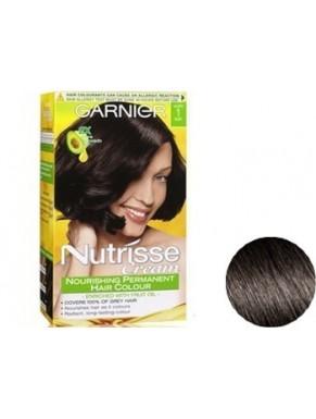 Coloration GARNIER Nutrisse crème Liquorice - Black N°1