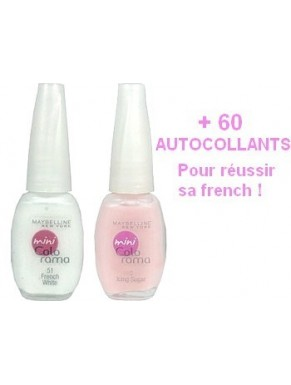 kit French GEMEY MAYBELLINE Colorama ROSE NATUREL