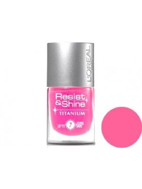 Vernis à ongles L'OREAL Resist & Shine Titanium CANDY PINK 106