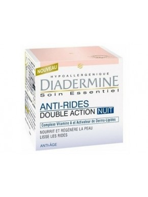 Soin de nuit Anti Rides DIADERMINE Double action 50ml