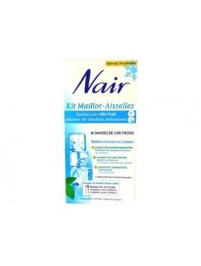 Bandes de Cire NAIR Maillot-Aisselles Réduction douleurs x16