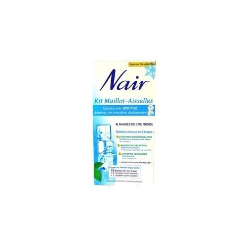 Kit NAIR Maillot-Aisselles 16 Bandes de Cire Froide Réducteur de douleurs